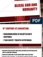 Biblical God and Humanity