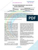 EVALUATION AND PERFORMANCE ANALYSIS ON CLOUD COMPUTING