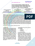 EVALUATION OF OCCUPATIONAL NOISE AND AN INVESTIGATION INTO RESPIRATORY SYMPTOMS AND LUNG CAPACITIES AT TOLL PLAZA WORKERS