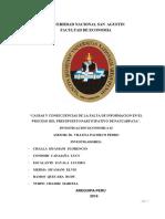 Causas y Consecuencias de La Falta de Informacion en El Proceso de Presupuesto Participativo en El Distrito de Paucarpata