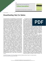 Breastfeeding Best for Babies