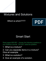 mixtures and solutions  1