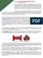Aniversario de La Independencia Del Perú