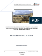 estudio de mecanica de suelos para alcantarillado