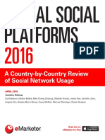 EMarketer Global Social Platforms 2016-A Country-By-Country Review of Social Network Usage