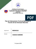 Plan de Ordenamiento Territorial, Ciudad Sandino