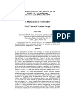 A Mathematical Solution for Food Thermal Process Design