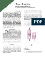 Ensayo de Tracción - 20141463, 20144245,20140583