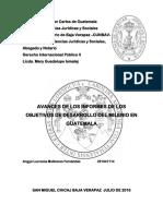Objetivos de Desarrollo Del Milenio Angye Lucrecia Molineros Fernandez