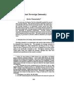 Against Sovereign Immunity 2001 Chemerinsky