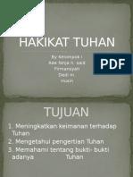 HAKIKAT TUHAN