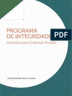 Programa de Integridade Diretrizes Para Empresas Privadas