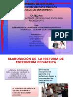 Elaboración de La Historia de Enfermería Pediátrica
