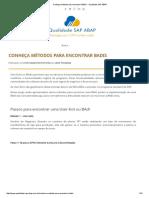Conheça Métodos Para Encontrar BADIs - Qualidade SAP ABAP
