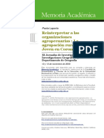 Laporta, P. (2009) Reinterpretar a Las Organizaciones Agropecuarias