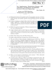 Sr050210201 Fluid Mechanics Hydraulic Machinery