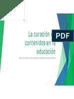La curación de contenidos en la educación