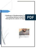 Challenges of Implementing Computerized Accounting System in Small and medium enterprises in ampara district