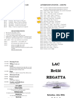 Brûlé Regatta 2016 - Program