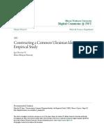 Constructing a Common Ukrainian Identity- An Empirical Study