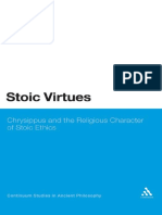 Stoic Virtues. Chrysippus and the Theological Foundations of Stoic Ethics_Jedan