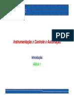 01 A - Instrumenta+º+úo x Controle x Automa+º+úo