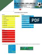 Conformacion de Grupos Senior Master Junio 2016