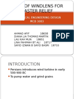 Design of Windlens for Disaster Relief