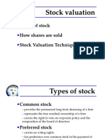 FM - 5. Stock Valuation MBA