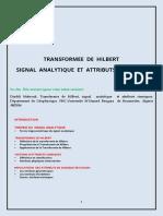 Transformée de Hilbert, Signal Analytique et Attributs Sismiques