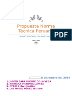 Propuesta Norma Técnica Peruana