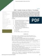 Estudos Sociais Em C. e Tec. Disciplina Iara Souza UFBA