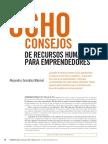Ocho Consejos de RRHH Para Emprendedores