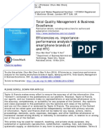 Efficiency vs. IPA (Total Quality Management)