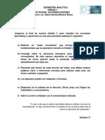 Autorreflexiones Unidad 1 Geometria Analitica