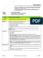 Embauche Charge Enseignement