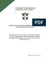 Aplicación de Los Principios Inmobiliarios Registrales