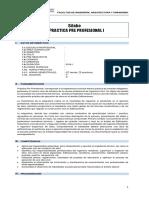 Modelo de Sílabo Practica Pre Profesional i