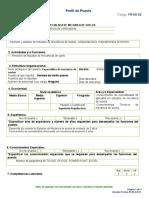 FR-AD-02 Perfil de Puesto Especialista en Mecanica de Suelo GV