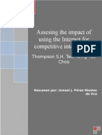 Assesing the Impact of Using the Internet for Competitive Intelligence