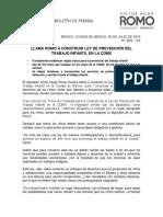 LLAMA ROMO A CONSTRUIR LEY DE PREVENCIÓN DEL TRABAJO INFANTIL EN LA CDMX