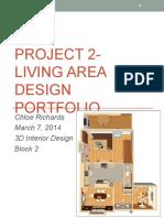project 2- living area design portfolio