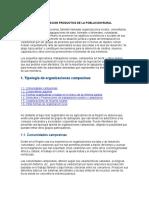 Organizacion Productiva de La Poblacion Rural