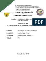 ELABORACIÓN DE QUESO CON A.C
