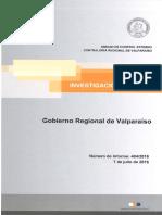Informe Investigación Especial 404-16 Gobierno Regional de Valparaíso Sobre Proyecto Denominado Actividad Deportiva en La Higuera y Otro - Julio 2016