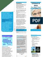 glaucoma brochure