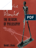 Gerald L. Bruns - Maurice Blanchot the Refusal of Philosophy