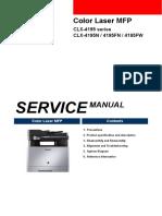 Samsung Clx-4195fn Service manual