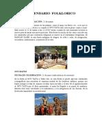 Calendario Folclórico  de  la etnia Otavalo