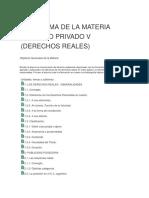 Programa de La Materia Derecho Privado V